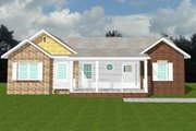 Ranch Style House Plan - 4 Beds 3 Baths 3428 Sq/Ft Plan #123-112 Exterior - Other Elevation