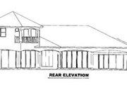 Mediterranean Style House Plan - 4 Beds 4.5 Baths 4392 Sq/Ft Plan #27-204 Exterior - Rear Elevation