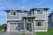 Contemporary Style House Plan - 4 Beds 3.5 Baths 3722 Sq/Ft Plan #569-40