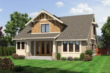 Craftsman Exterior - Rear Elevation Plan #132-209