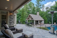 European Exterior - Outdoor Living Plan #929-479