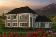 Southern Style House Plan - 4 Beds 3 Baths 2952 Sq/Ft Plan #70-1230 Exterior - Rear Elevation