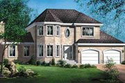 European Style House Plan - 4 Beds 2.5 Baths 2547 Sq/Ft Plan #25-4245 Exterior - Front Elevation