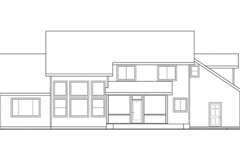 Craftsman Exterior - Rear Elevation Plan #124-836 - Houseplans.com