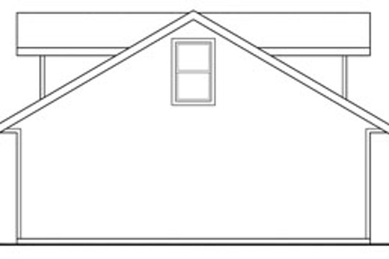 Traditional Exterior - Rear Elevation Plan #124-661 - Houseplans.com