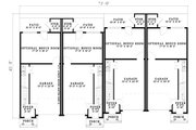 Traditional Style House Plan - 2 Beds 2.5 Baths 5456 Sq/Ft Plan #17-1173 Floor Plan - Lower Floor Plan