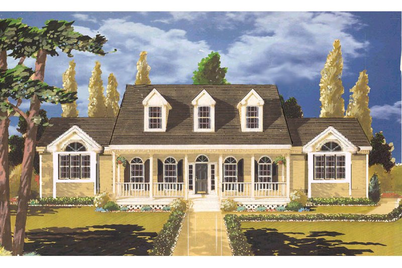 House Plan Design - Southern Exterior - Front Elevation Plan #3-188