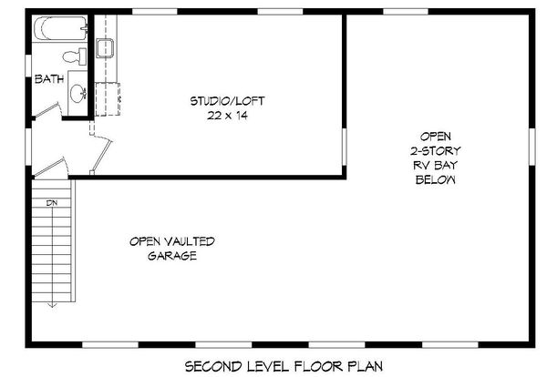 Contemporary Floor Plan - Upper Floor Plan Plan #932-229