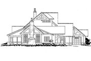 European Style House Plan - 4 Beds 3.5 Baths 3922 Sq/Ft Plan #942-38 Exterior - Other Elevation