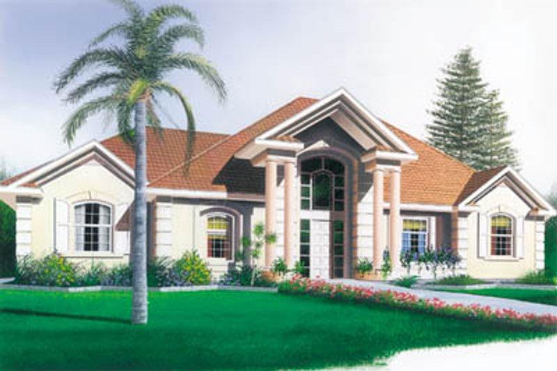 Home Plan Design - European Exterior - Front Elevation Plan #23-127