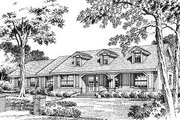 Traditional Style House Plan - 4 Beds 2 Baths 2173 Sq/Ft Plan #417-209 Exterior - Front Elevation
