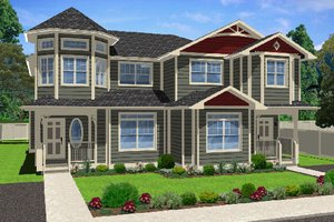 Architectural House Design - Victorian Exterior - Front Elevation Plan #126-168