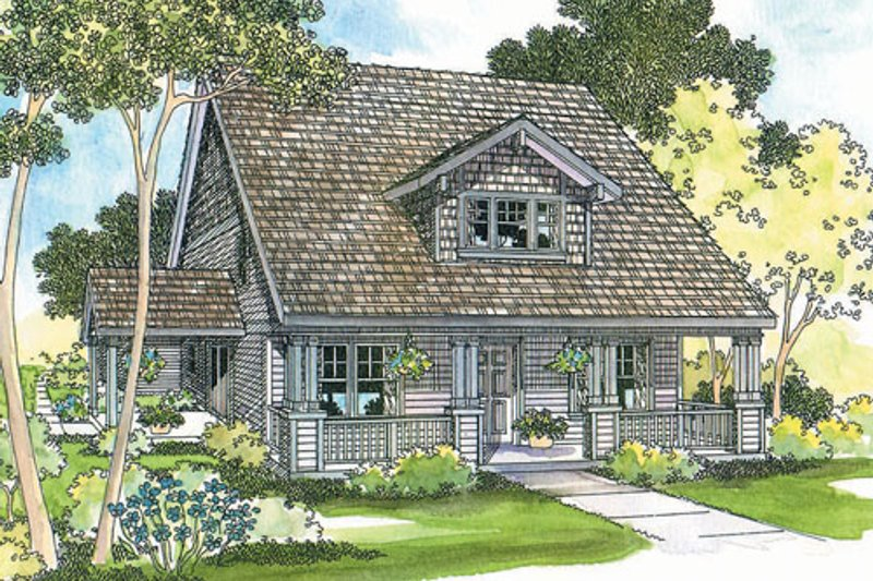 Craftsman Exterior - Front Elevation Plan #124-204