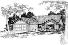 Dream House Plan - Modern Exterior - Front Elevation Plan #124-301