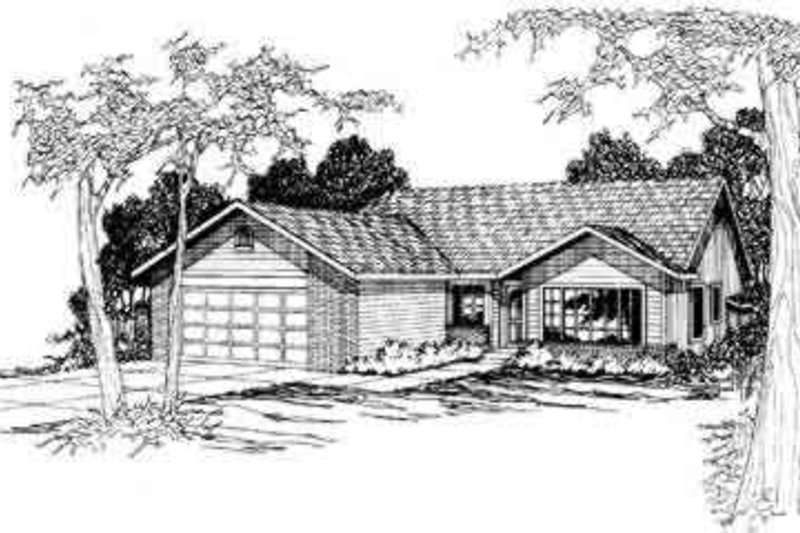 Modern Exterior - Front Elevation Plan #124-301