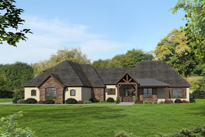 Country Exterior - Front Elevation Plan #932-314