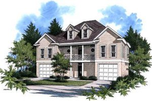 Traditional Exterior - Front Elevation Plan #37-116