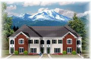 Traditional Style House Plan - 3 Beds 2.5 Baths 7328 Sq/Ft Plan #26-218 Exterior - Front Elevation