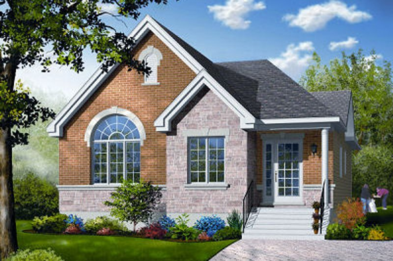 Architectural House Design - Traditional Exterior - Front Elevation Plan #23-795