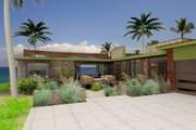 Contemporary Style House Plan - 3 Beds 3 Baths 1335 Sq/Ft Plan #484-7 Exterior - Other Elevation