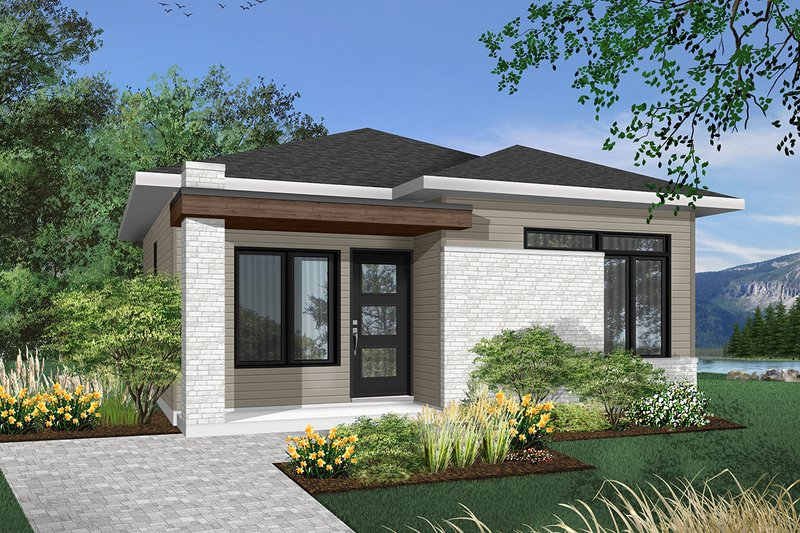 Dream House Plan - Contemporary Exterior - Front Elevation Plan #23-2299