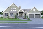 Craftsman Style House Plan - 3 Beds 2.5 Baths 2074 Sq/Ft Plan #1070-67 Exterior - Front Elevation