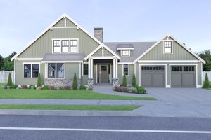 Craftsman Exterior - Front Elevation Plan #1070-67