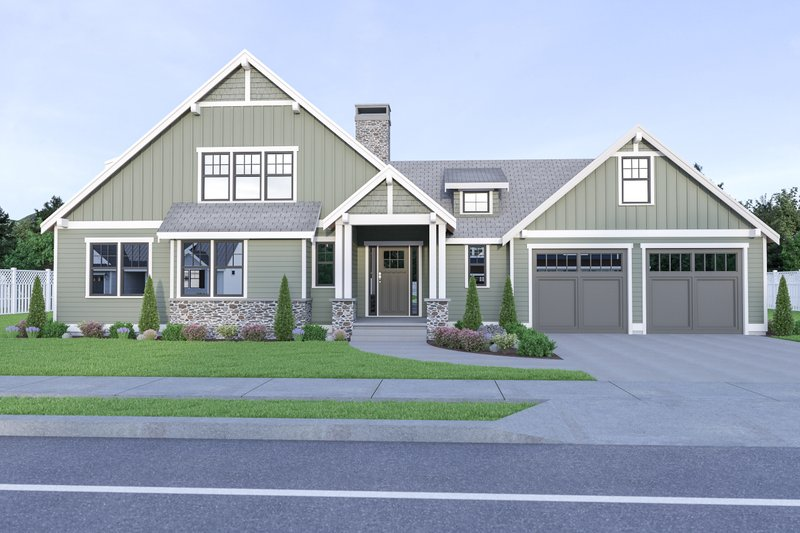 House Plan Design - Craftsman Exterior - Front Elevation Plan #1070-67