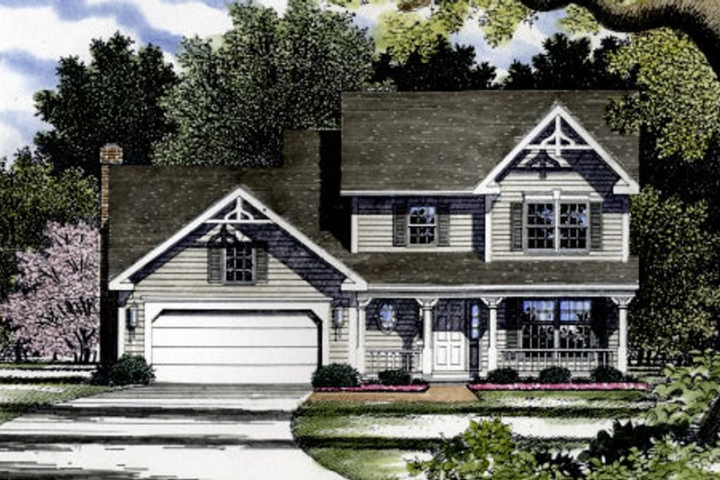Farmhouse Style House Plan - 3 Beds 2.5 Baths 2180 Sq/Ft Plan #316-108 Exterior - Front Elevation