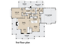 Farmhouse Floor Plan - Main Floor Plan Plan #120-261