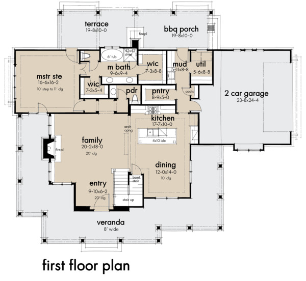 Architectural House Design - Farmhouse Floor Plan - Main Floor Plan #120-261