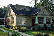 Craftsman Style House Plan - 3 Beds 2.5 Baths 1584 Sq/Ft Plan #461-6 Exterior - Front Elevation