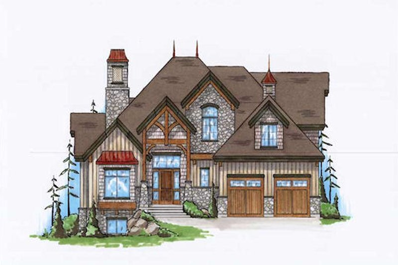 Home Plan - Craftsman Exterior - Front Elevation Plan #5-378