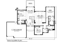 Ranch Floor Plan - Main Floor Plan Plan #70-1193