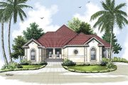 Mediterranean Style House Plan - 3 Beds 2 Baths 2349 Sq/Ft Plan #45-145 Exterior - Front Elevation