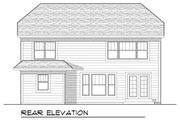 Bungalow Style House Plan - 4 Beds 4.5 Baths 2587 Sq/Ft Plan #70-953 Exterior - Rear Elevation