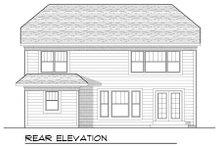 Dream House Plan - Bungalow Exterior - Rear Elevation Plan #70-953