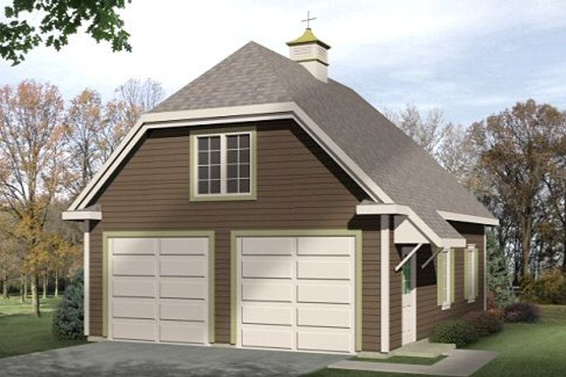 Farmhouse Style House Plan - 0 Beds 0 Baths 720 Sq/Ft Plan #22-427 Exterior - Front Elevation