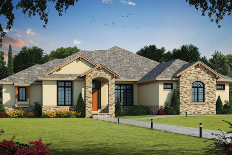 Architectural House Design - Traditional Exterior - Front Elevation Plan #20-2408
