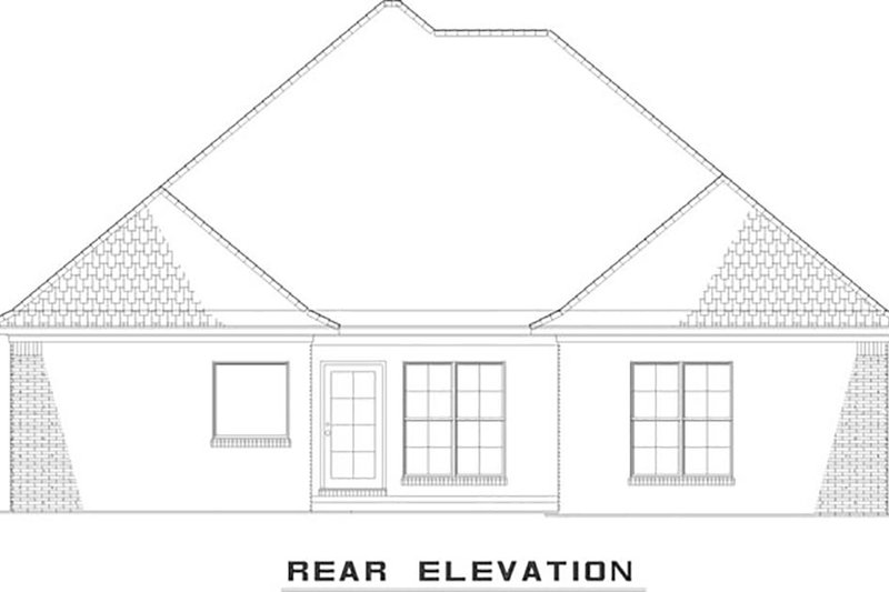 European Exterior - Rear Elevation Plan #17-2540 - Houseplans.com