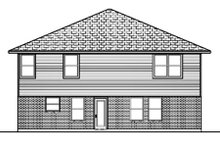 Architectural House Design - Traditional Exterior - Rear Elevation Plan #84-385