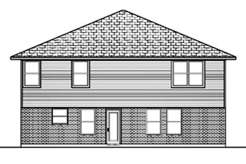Traditional Exterior - Rear Elevation Plan #84-385 - Houseplans.com