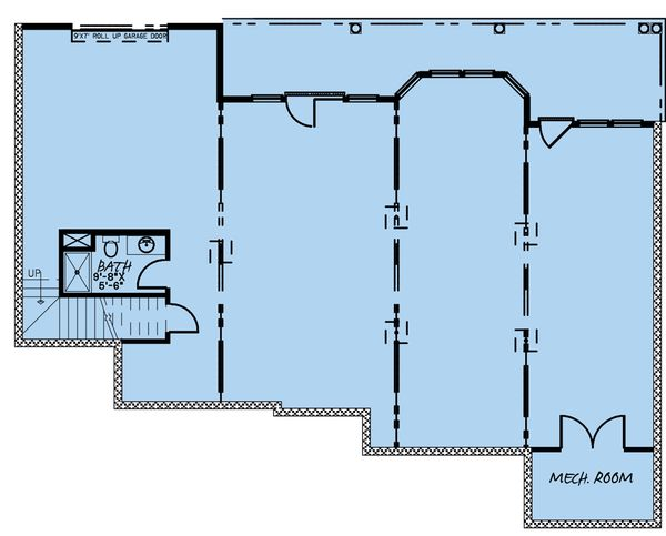 Traditional Floor Plan - Lower Floor Plan #923-177
