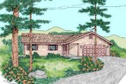 Traditional Style House Plan - 3 Beds 2 Baths 1309 Sq/Ft Plan #60-468 Exterior - Front Elevation