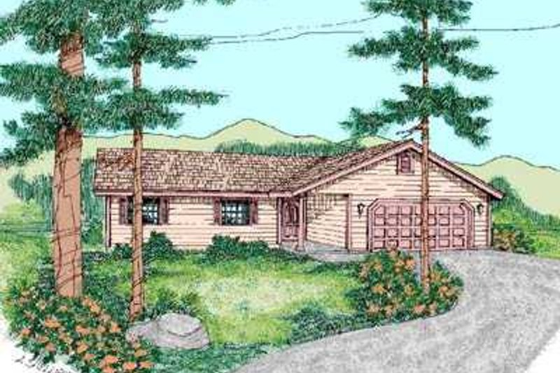 Traditional Exterior - Front Elevation Plan #60-468 - Houseplans.com