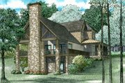 Country Style House Plan - 3 Beds 2.5 Baths 3041 Sq/Ft Plan #17-2533 Exterior - Rear Elevation