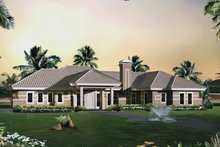 Dream House Plan - Modern Exterior - Front Elevation Plan #57-688