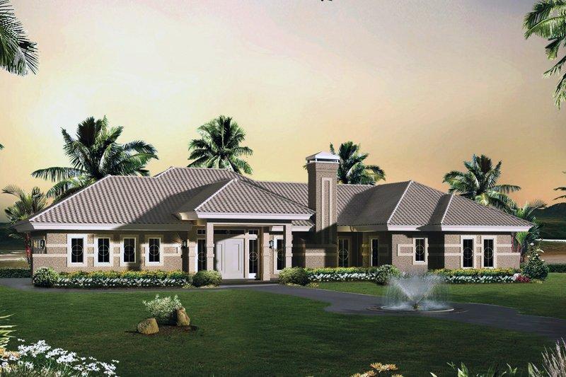 Dream House Plan - Modern Exterior - Front Elevation Plan #57-688