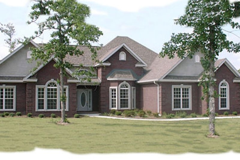 Traditional Style House Plan - 4 Beds 2.5 Baths 2444 Sq/Ft Plan #63-102 Exterior - Front Elevation