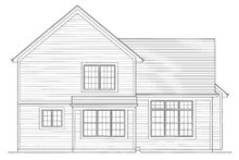 Home Plan - Traditional Exterior - Rear Elevation Plan #46-422